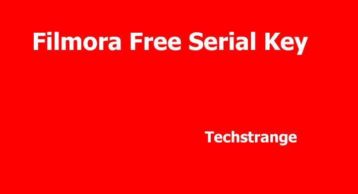 filmora free key